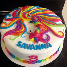 Lisa Frank Horse Cake (cake is dairy, egg, and nut free)