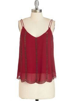 Deco the Distance Top in Ruby - Forget Ugly Sweaters! 7 Sexy Party Tops to Rock This Holiday Season ... → Fashion Fashion