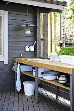 Outdoor Sinks, Outdoor Rooms, Outdoor Dining, Garden Sink, Pergola, Tent Living, Decoration Chic, Diy Outdoor Furniture, Backyard Makeover
