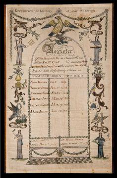 Attr. Richard Brunton, ca. 1800, family register