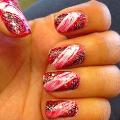 Crazy shatter nails :)
