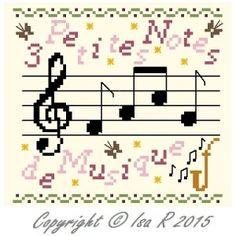 3 Petites notes de musique ( free ) - Le Carnet D'une Brodeuse