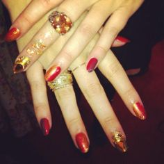 """E! Grammy Red Carpet """"Set Fire To The Rain"""" Manicure 
