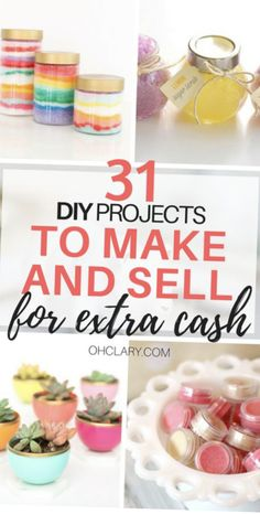 Ever wonder if you could make any money selling crafts? Check out these 31 crafts to make and sell, and you just might find the perfect crafty side job! Best Valentines day crafts to sell in 2021. #craftstomakeandselldiy #makeextracash #mostprofitablecrafts #hobbiesthatmakemoney #hobbiesforwomen #craftsthatmakemoney #sidehustleideas Diy Craft Projects, Diy Projects To Make And Sell, Diy Gifts To Sell, Crafts To Make And Sell, Sell Diy, New Crafts, Easy Diy Crafts, Diy Crafts For Kids, Handmade Crafts