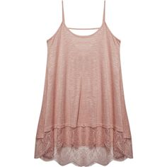 Wet Seal Freshman™ Lace-Trim Tank ($20) ❤ liked on Polyvore featuring tops, strappy tank, wet seal, scoop neck top, lace trim tank and strappy tank top