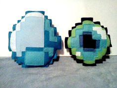 Terraria Minecraft Inspired Plushies LOT OF 2 End Pearl Diamond plush toy