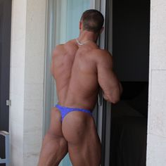 Ludovic Bogaert in tiny purple panties