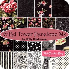 Eiffel Tower Penelope Six Fat Quarter Bundle Holly Holderman for Lakehouse Dry Goods - Fat Quarter Shop