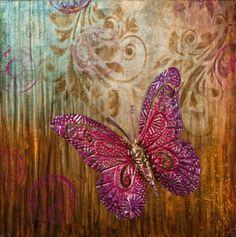 Schilderij Vlinder 70x70 Brooch, Beautiful, Jewelry, Jewlery, Jewerly, Brooches, Schmuck, Jewels, Jewelery