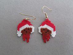 Cute Santa Bear Earrings