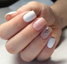 144 best natural short square nails design for summer nails - 10 Polygel Nails, Pink Nails, Hair And Nails, Manicure, Short Square Nails, Nagel Gel, Perfect Nails, Nails Inspiration, Beauty Nails