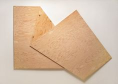 """Harry Roseman: Folded Plywood 16, 77"""" x 56"""" x 0.75"""", AC ¼"""" plywood (constructed from one """" 4' x 8' sheet of plywood), 2012."""