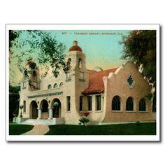Carnegie Library, Riverside CA Vintage Post Cards