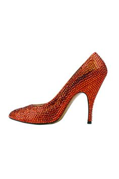 Apparently these red Swarovski shoes were made by Salvatore Ferragamo just for Marilyn Monroe  <3