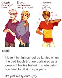 this is so much like me and my school friends... me being spain...