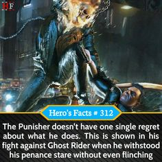 The Punisher and Ghost Rider facts #Marvel #marvelcomics #marveluniverse #marvelstudios #marvelcinematicuniverse #MarvelLegends #marvelshots #marvelcosplay #marvelous #Marvelmovies #marvelart #marvelmemes #Marvelfan #MarvelComic #marvellous #marvelnation #marvelheroes #marvels #marvelfacts #marvelvsdc #marvelfans #MarvelMovie #MarvelandDC #marvelentertainment #MarvelNow #marveledit #marveloushawaii #marvell #marvelnerd #marvelfanart#dragonballsuper #dragonballsuperfacts #dragonballsuper2017 #dra Marvel Comic Universe, Comics Universe, Marvel Dc Comics, Marvel Cinematic Universe, Marvel Avengers, Marvel Facts, Marvel Memes, Superhero Facts, Funny Love Pictures
