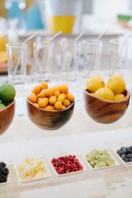 Setting Up a Sunday Juice Bar - Style Me Pretty Living