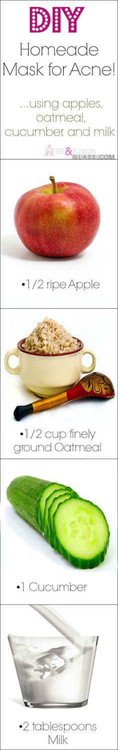 Homemade Acne Mask - DIY Oatmeal, Apple, Milk & Cucumber Mask! | Fireandfusionglass