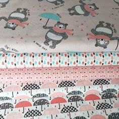 This is where you can see our lovely fabric, ribbons and other scrummy whatnots. Umbrellas, Bears, Rolls, Kids Rugs, Quilts, Blanket, Fabric, Cotton, Pink