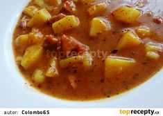 Czech Recipes, Ethnic Recipes, Goulash, Bon Appetit, Cheeseburger Chowder, Thai Red Curry, Stew, Tasty, Dishes