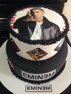 Eminem Sponge Birthday Cake Birthdaycake Thbirthday - Dark knight birthday cake
