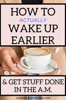 Need tips on how to wake up earlier in the morning? Want to become more of a morning person? These are the 7 ways I have used to get up earlier every morning. By getting up earlier, you'll be more productive and start your day off in control of your morni Self Development, Personal Development, Morning Pages, Getting Up Early, Co Working, Time Management Tips, Good Habits, How To Wake Up Early, Me Time