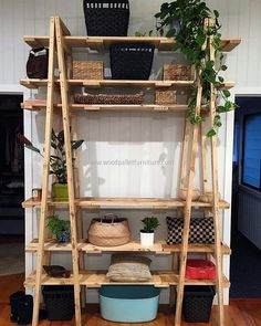 pallet decor shelving idea