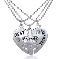 Silver BFF Best Friends Forever Necklaces from Rana Jabero