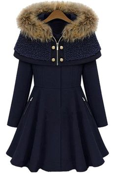 This season is all about comfort and warm. This coat features wool fabric, zipper closure, detachable cape, longline design and long sleeve. Pair it up with just about any outfit this winter for the perfect look