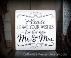 Please Leave Your Wishes for the New Mr & Mrs   -- Wedding -- Painted Wooden Subway Art Sign on Etsy, $19.00