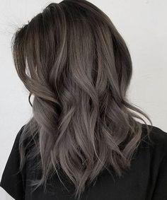 Fabulous Layered Dark Grey Hairstyles 2018 for Women