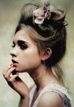 romantic, messy updo