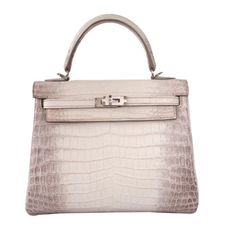 b0b067e4349a Hermes Kelly Bag 25 cm Matte Himalaya Nilo Crocodile Retourne with  Palladium Hardware