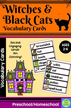 Enhance your Halloween Themed Activities and Dramatic Play with these Witches Halloween Vocabulary, Halloween Activities, Halloween Themes, Preschool Halloween, Halloween Witches, Preschool Word Walls, Numbers Preschool, Educational Activities, Number Activities