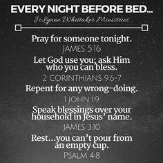 Every night. This is so helpful. Prayer Scriptures, Bible Prayers, Faith Prayer, My Prayer, Bible Verses, Prayer Board, Daily Scripture, Prayer Times, After Life