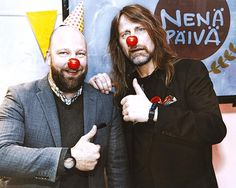 VMP:n aluejohtaja Sami Hirvonen ja Jone Nikula #Nenäpäivä-hengessä 😜 kuvakreditit: HAAPMAN