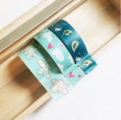 Blue Sky Washi Tape Combo Set Japanese TapeScrapbook by AyakaArts