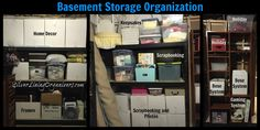 Basement Storage Organization with Silver Lining Organizers