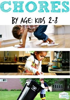 Chores by age Kids: 2-8