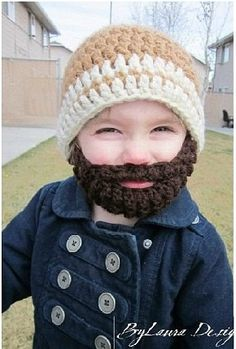 Crochet hat beard