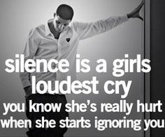 Silence in the words of Drake