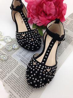 Black D'Orsay Sandals