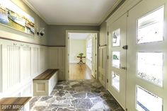 Interesting use of space in this entry hall in Annapolis, MD
