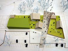 Site plan idea model- 137kilo & WWAA - cultural centre - sluzew, warsaw, poland - 2008