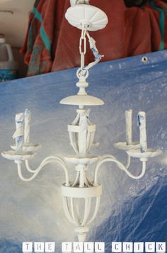 DIY upcycled chandelier