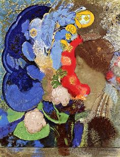Odilon Redon,Woman with Flowers, 1903