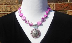 Statement Necklace  fuchsia mother of pearl by CopperTowneGems, $69.00
