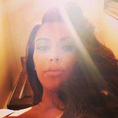 Kim looks beautiful