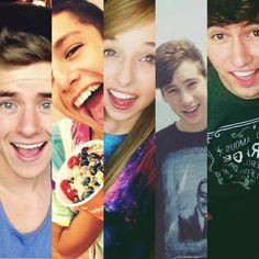 5 favorite youtubers-Connor Franta, Lohanthony, JennXPenn, Thatsojack, and JC Caylen:)