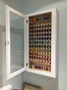 Trendy sewing room cabinets thread Trendy sewing room cabinets thread storageEasy DIY Thread Storage CartHere is an easy do-it-yourself solution for thread storage. I just came into a lot of embroidery thread!